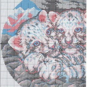 Схема вышивки Snow leopard cubs (Dimensions) 1 from 2