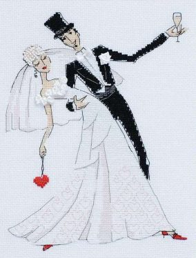 "Embroidery ""Wedding waltz"""