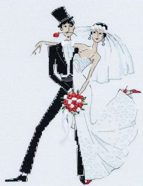 "Embroidery ""Wedding tango"""