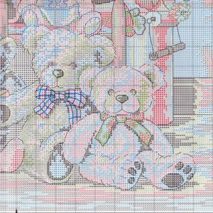 Схема вышивки Teddy Bear Gathering (Dimensions) 4 from 4