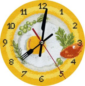 Clock. Time for breakfast