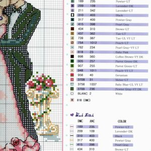 Diagram of embroidery Wedding story 2 from 2