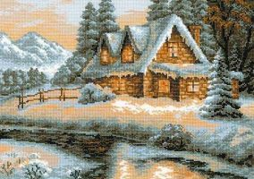 "Stickerei ""Winterlandschaft"""