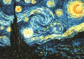 "Embroidery ""Starry night"""