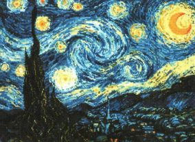 "Broderi ""Starry Night"""